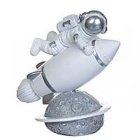 """Фігурка """"Космонавт і ракета"""" 15 см (2007-043)"""