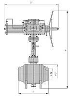 Кран шаровой подземный под приварку РN160 с пневмоприводом и блоком управления БУК DN 65
