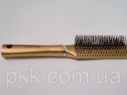 Щетка для волос DAGG плоская с пластмасовыми зубцами 9543 ARXP