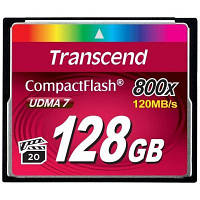 Карта памяти Transcend Compact Flash Card 128Gb 800X (TS128GCF800)