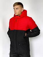 Демисезонная Куртка Waterproof Intruder (красно - черный), фото 1