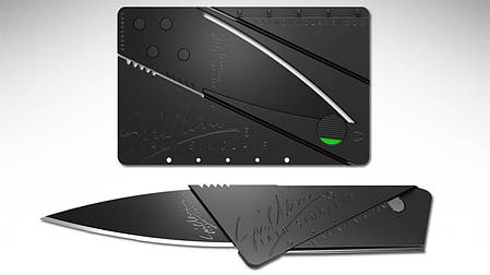 Нож Кредитная карта Card Sharp, Карманный нож визитка кредитка, фото 2
