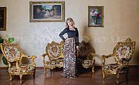 Длинное тигровое платье в пол