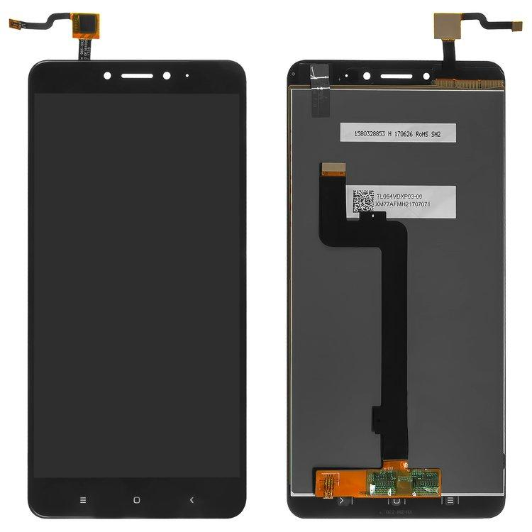 Дисплей (LCD) Xiaomi Mi Max 2 з тачскріном, чорний, оригінал (PRC)