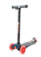 Детский Самокат для детей 3-х колесный со светящими колесами, Best Scooter Micro, подшипники ABEC-7 арт. 1308