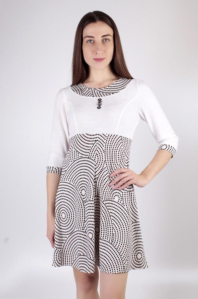 Платье женское молочное 3718