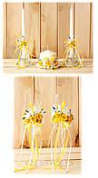 Свадебный набор бокалы и свечи