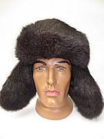 Мужская зимняя шапка ушанка из меха кролика