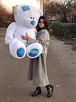 Великий плюшевий ведмедик Тедді 150см білий