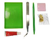 """Алмазная вышивка """"Сиреневый букет"""" Белоснежка 30х30 см, фото 3"""