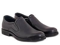 Туфли черные кожаные  ETOR