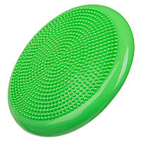 Подушка балансировочная массажная 33см х 5см, вес 900г цвет салатовый