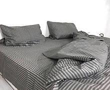 Комплект постельного белья Страйп Серый