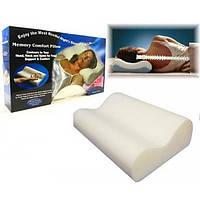 Ортопедическо-анатомическая подушка для сна с эффектом памяти Memory Pillow белая