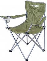 Раскладное кресло со спинкой для рыбалки и туризма Ranger SL 620 RA 2228 зеленое
