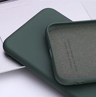 Чехол Silicone Case full для Realme С2 dark green (реалми С2)