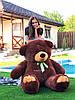 Плюшевий ведмедик Ветли 160 см Шоколад