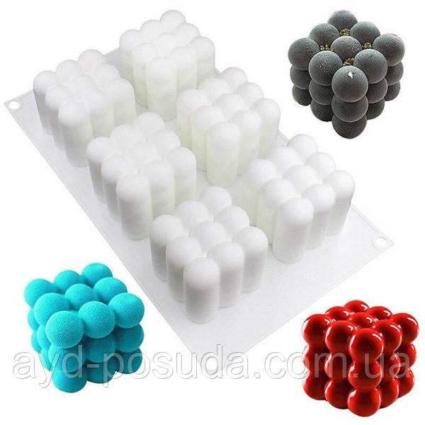 """Силіконова форма для евроторта """"Magic Cube Bubble"""" арт. 860-10151843"""