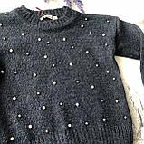 Вязанный костюм на девочку 215. Размер 92 см, 98 см,  110 см, фото 2