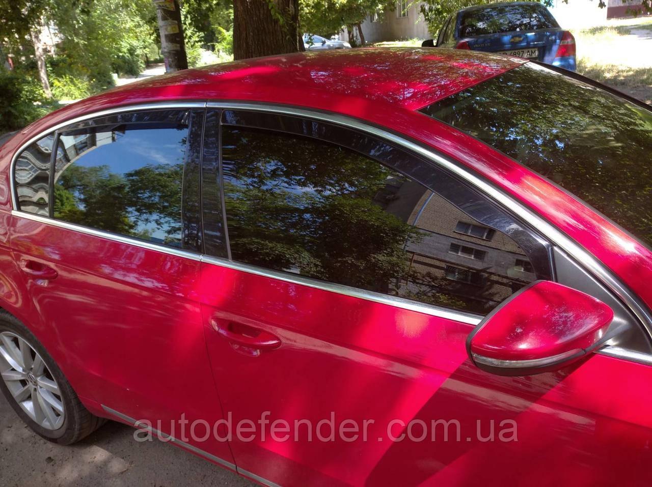 Дефлекторы окон (вставные!) ветровики Volkswagen VW Passat B6 2005-2010 4шт. Sedan, HEKO, 31154