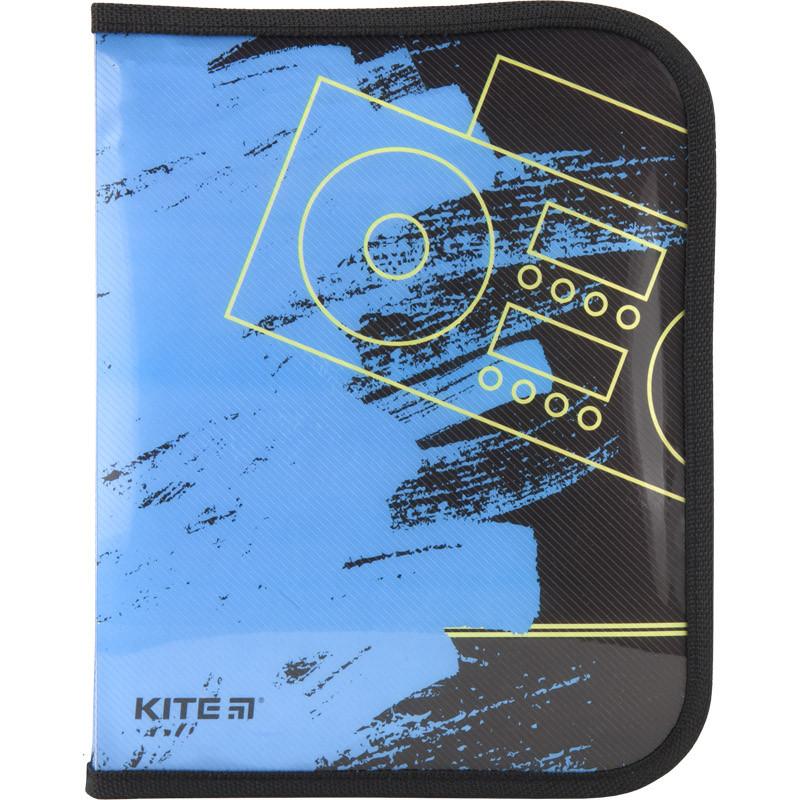 Папка об'ємна B5 на блискавці Kite Be sound K18-203-3, 38549