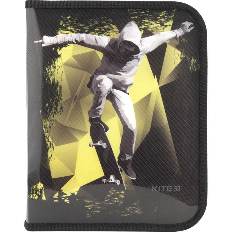 Папка об'ємна B5 на блискавці Kite Cool Skateboarder K18-203-4, 38550