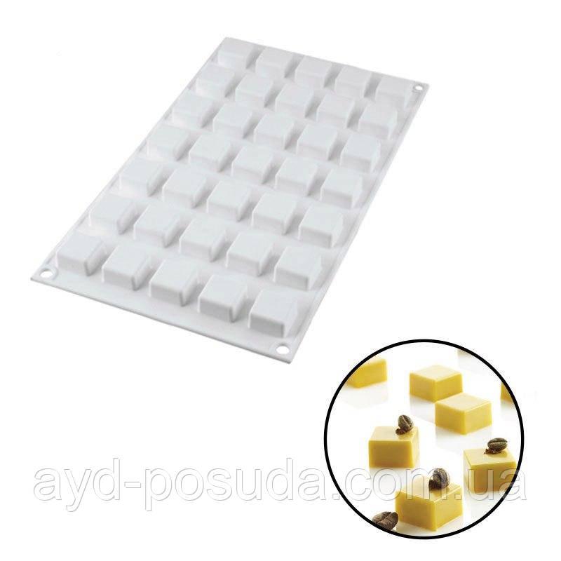 """Силиконовая форма для евроторта """"Micro square"""" арт. 860-1089921"""