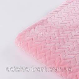 Відріз плюшу косичка рожевого кольору, розмір 100*80 см