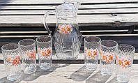 80119 Набор для сока Лилия(кувшин+6 стаканов), фото 1