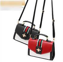 Стильная женская сумка сундучок с застежкой  Жук, фото 2