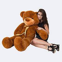 Средний коричневый медведь, мягкая игрушка 140 см