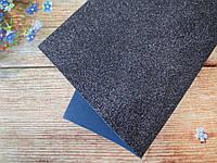Фоамиран глиттерный 1,6 мм, 20x30 см, Китай, ТЕМНО-СИНИЙ (неви), фото 1
