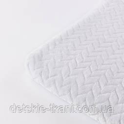 Відріз плюшу косичка білого кольору, розмір 100*80 см