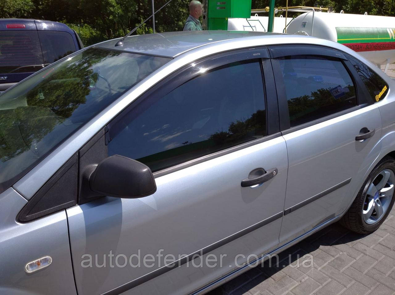 Дефлекторы окон (ветровики) Ford Mondeo III 2001-2006 hatchback/sedan, ANV - Cobra Tuning, F31301