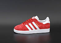 Женские кроссовки Adidas Gazelle Trainer | Red/White/Gold