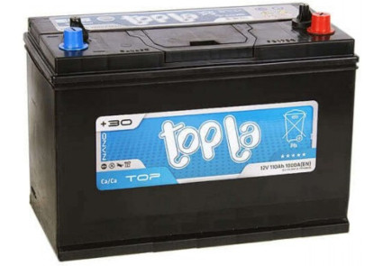 Акумулятор  автомобільний TOPLA TOP 110 (R+) (Словенія)  (John Deere) + гвинт