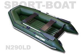 """Надувная моторная лодка с надувным дном """"Sport-Boat"""" Neptun N290LD, (021-0026)"""