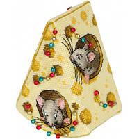 Набор для вышивания крестом Panna ИГ-7168 «Сыр для мышек»