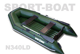 """Надувная моторная лодка с надувным дном """"Sport-Boat"""" Neptun N340LD, (021-0028)"""