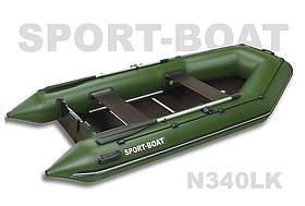 """Надувная моторная лодка с надувным дном """"Sport-Boat"""" Neptun N340LK, (021-0031)"""