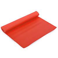 Коврик Profi для фитнеса и йоги PVC 1,73мx0,61мx4мм цвет красный