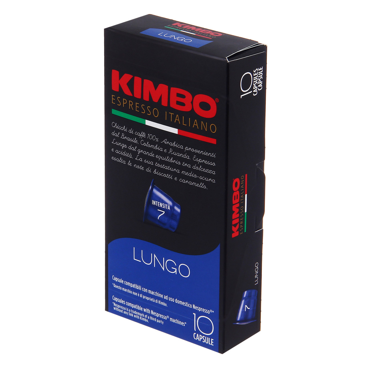 Кава в капсулах Kimbo Nespresso Lungo 7 (10 шт.), Італія (Неспрессо)