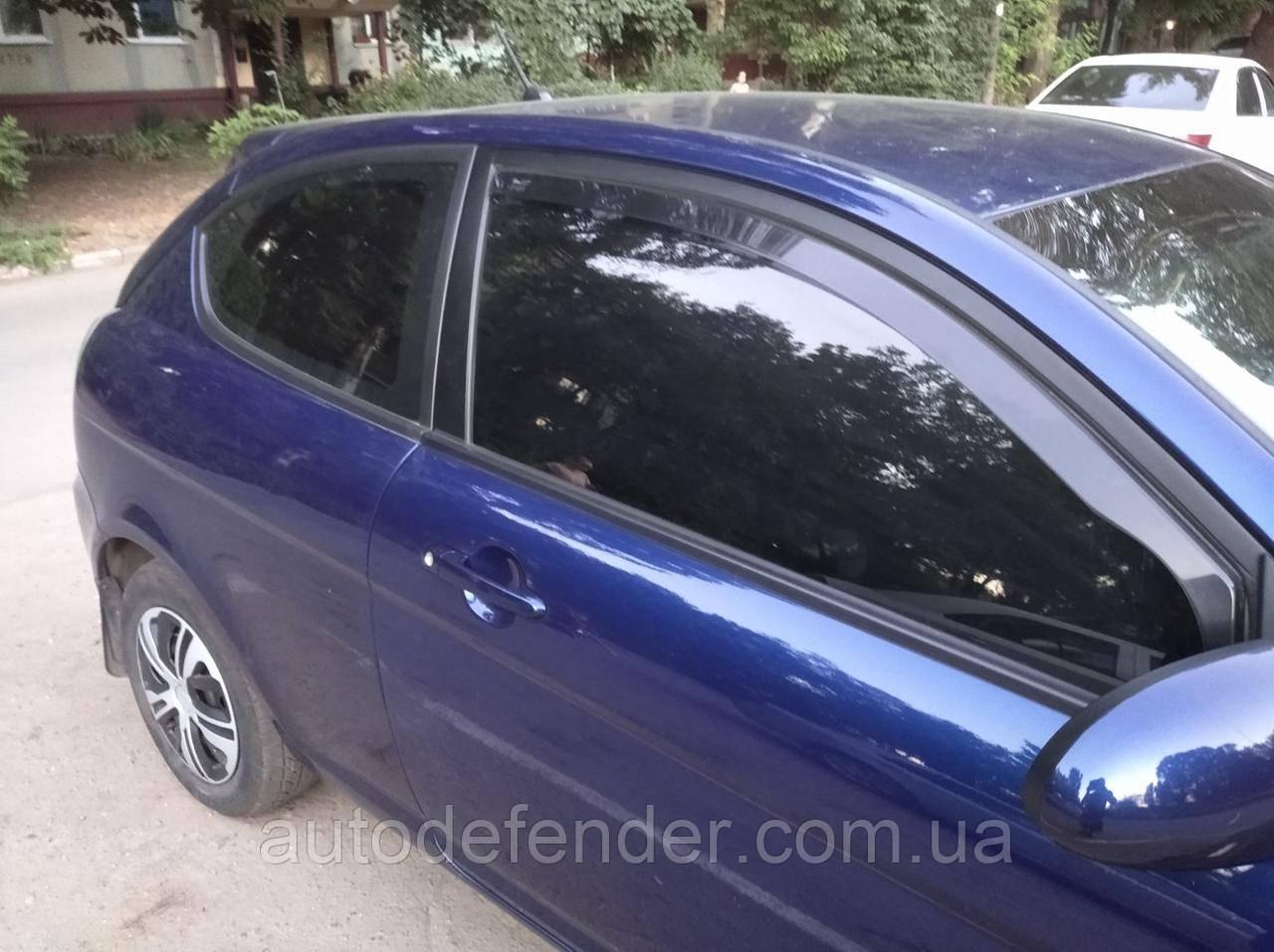 Дефлекторы окон (вставные!) ветровики Hyundai Accent 2006-2011 3D hatchback 2шт., HEKO, 17246