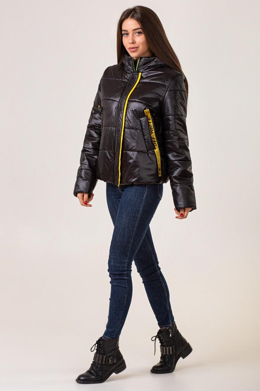 Жіноча демісезонна куртк 42-48 чорний