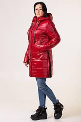 Куртка женская осень-весна большого размера  48,50,52,56 красный