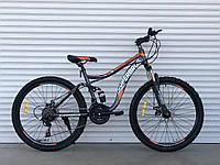 """Велосипед спортивный двухподвесной TopRider-920 26"""" оранжевый, фото 1"""