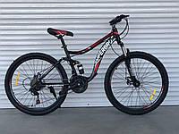 """Велосипед спортивный двухподвесной TopRider-920 26"""" красный, фото 1"""