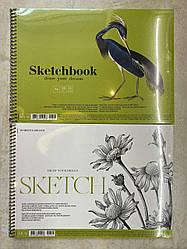 Альбом / скетчбук для эскизов Muse  Sketchbook А4 100 г/м2, 50 листов горизонтальный спираль
