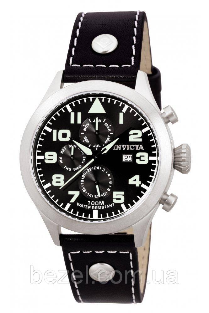 Мужские швейцарские часы Invicta Aviator 0350 I-Force Авиатор Инвикта доступные швейцарские часы