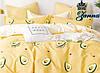 """Постельная ткань бязь """"Авокадо"""" желтого цвета"""